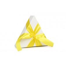 Атласна стрічка жовтого кольору, 2,5 см