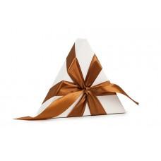 Атласна стрічка коричневого кольору, 2,5 см