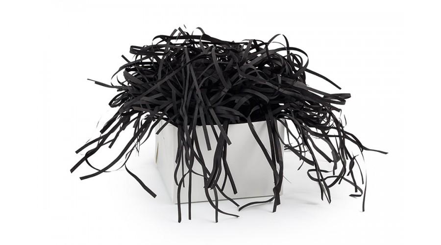 Паперовий наповнювач для упаковки подарунків, чорний
