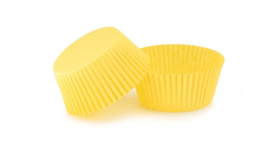 Жовті капсули для кексів ∅55. арт 140