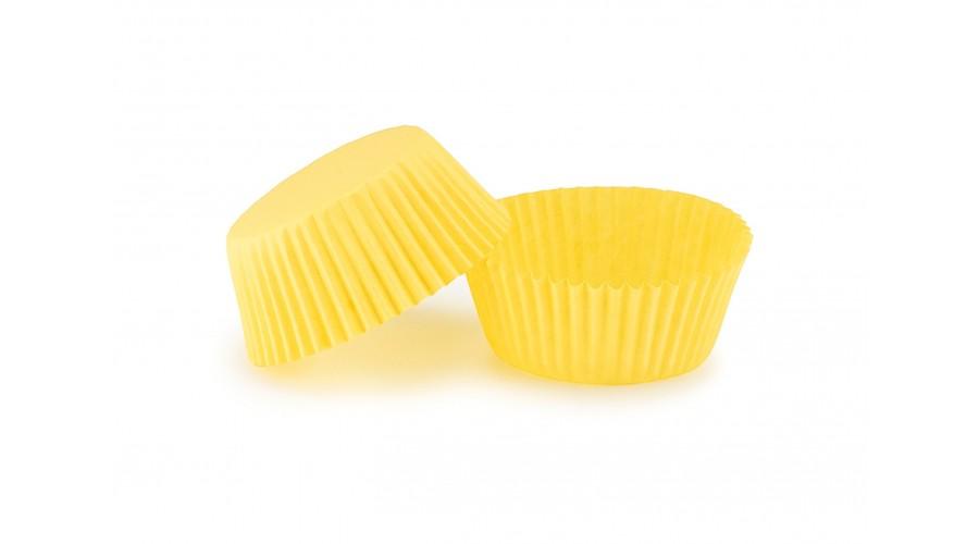 Жовті паперові капсули для кексів ∅45. арт 6с
