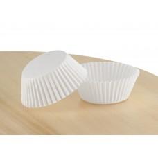 Білі паперові формочки для кексів д. 50. Арт 7а