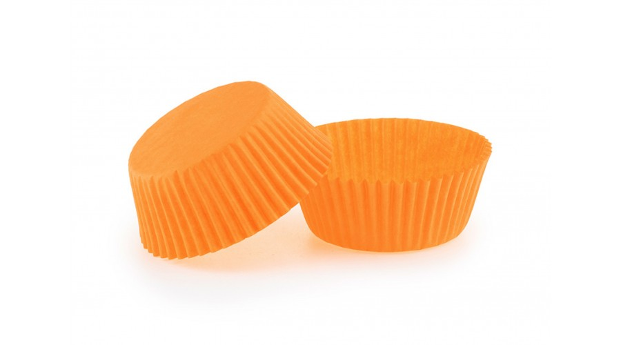 Паперові формочки для випічки кексів, помаранчеві, ∅ 50. Арт 7а