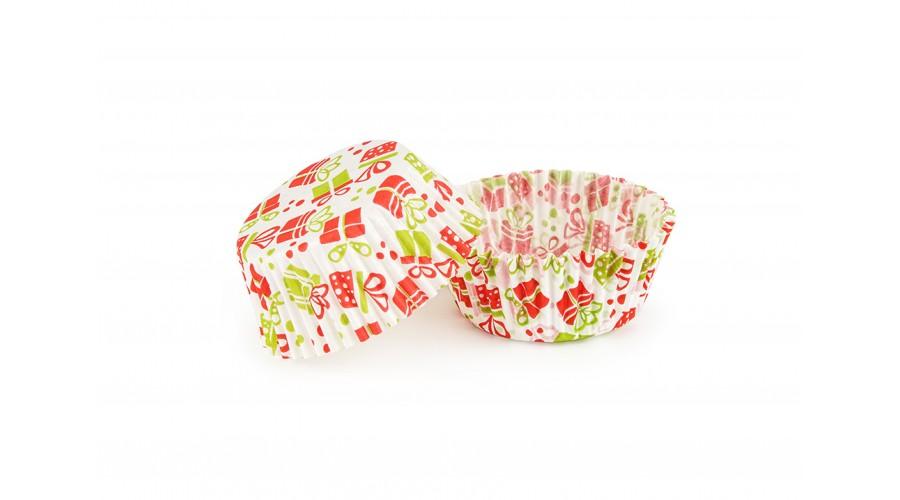 """Паперові формочки для випічки кексів """"Подарунок"""" ∅ 50. Арт 7а"""