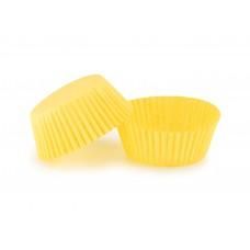 Паперові формочки для випічки кексів, жовті, ∅ 50. Арт 7а
