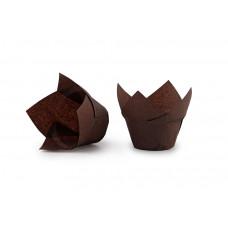 """Паперові форми для випічки кексів """"Лотос"""", коричневі"""