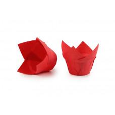 """Паперові форми для випічки кексів """"Лотос"""", червоні"""