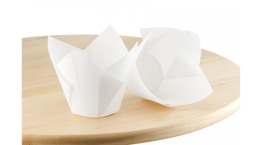 Паперові форми Тюльпан для випічки кексів. арт ТН150