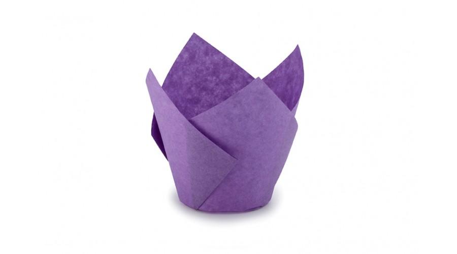 Фіолетові формочки Тюльпан для кексів. арт ТН150