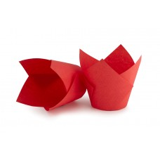 Червоні формочки Тюльпан для кексів. арт ТН150