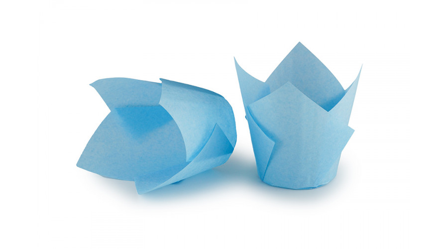 Блакитні формочки Тюльпан для кексів. арт ТН150