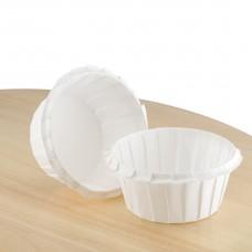 Білі формочки з посиленим бортиком для кексів ∅55. арт К55х35