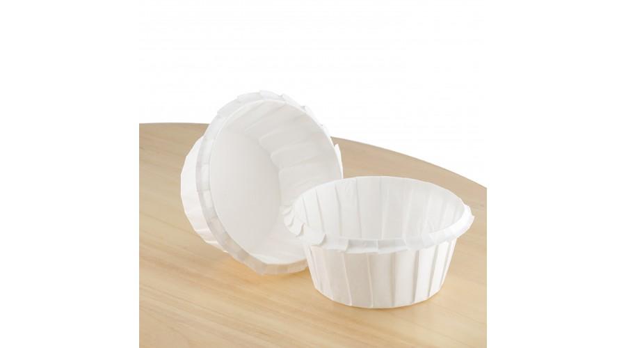 Форми для кексів паперові, з посиленим бортиком, білі, ∅ 55. Арт К55х35
