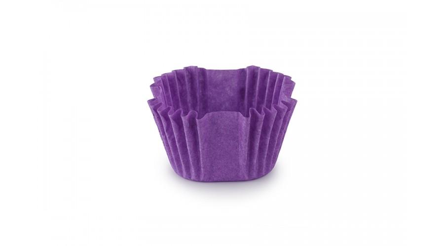 Квадратні формочки для цукерок, фіолетові, 27х27х22 мм
