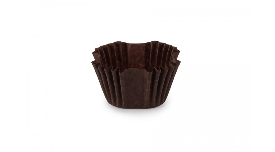 Квадратні формочки для цукерок, коричневі, 27х27х22 мм