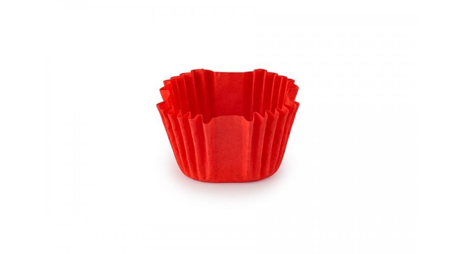 Квадратні формочки для цукерок, червоні, 27х27х22 мм