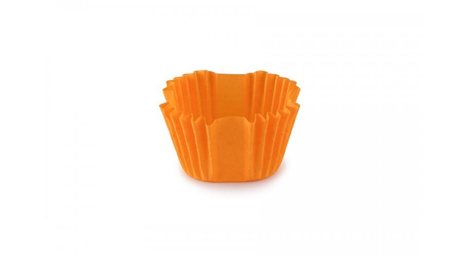 Квадратні формочки для цукерок, помаранчеві, 27х27х22 мм