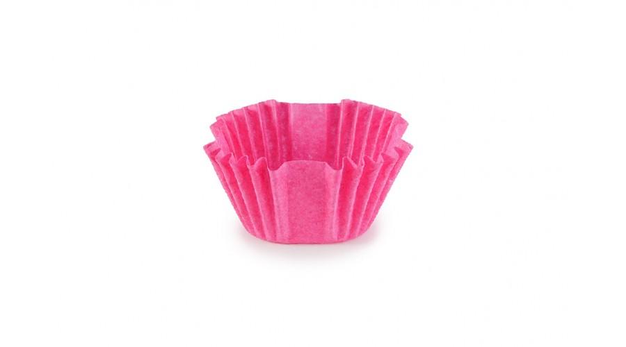 Квадратні формочки для цукерок, рожеві, 27х27х22 мм