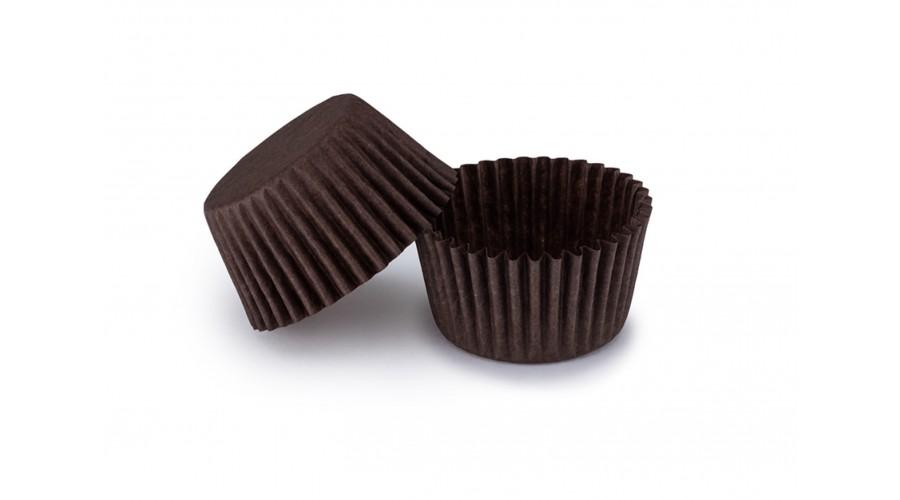Коричневі тарталетки для укладання цукерок ∅30. арт 3b