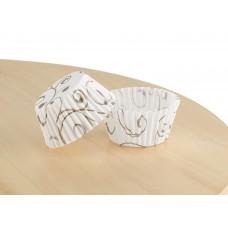 Білі формочки з орнаментом для цукерок, 30х24 мм. арт 3b