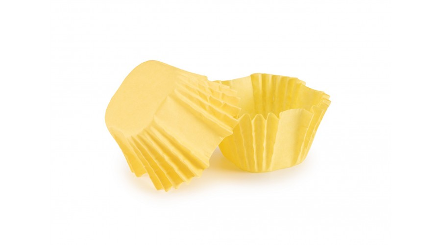 Квадратні паперові форми для цукерок, жовті