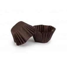 Квадратні паперові форми для цукерок, коричневі