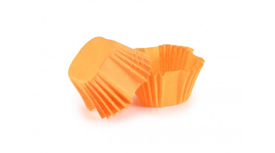 Квадратні паперові форми для цукерок, помаранчеві