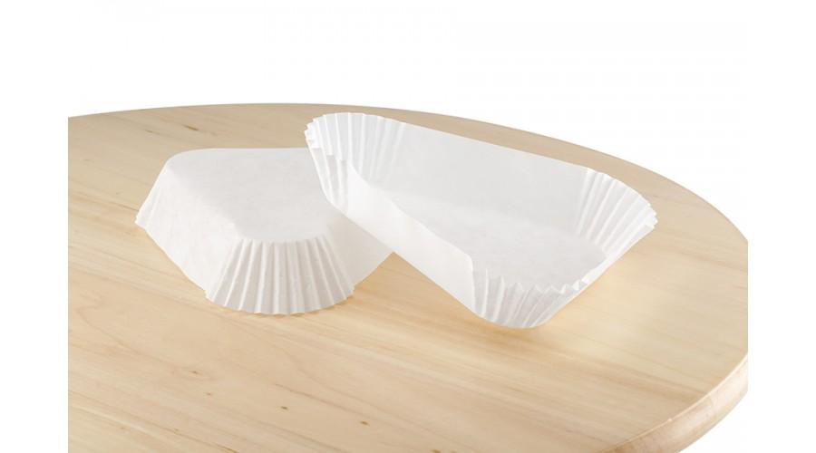 Тарталетка Трикутник (102х25) біла для тістечок