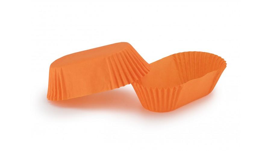 Помаранчеві прямокутні паперові форми для тістечок П-8