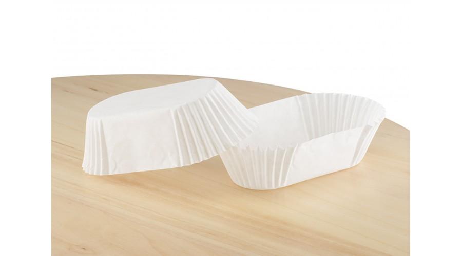 Білі прямокутні паперові форми для тістечок, П-8