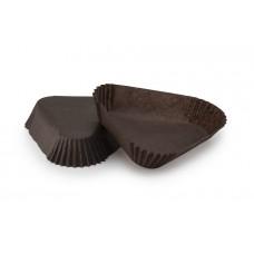 Тарталетка Трикутник (102х25) коричнева, для тістечок