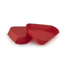 Тарталетка Трикутник (102х25) червона, для тістечок
