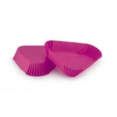 Рожеві трикутні паперові форми для тістечок