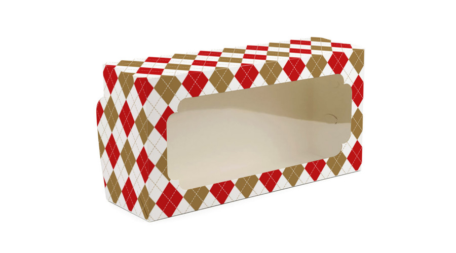 """Коробка для рулетів, """"Ромбики"""", 150х300х90 (50 штук)"""