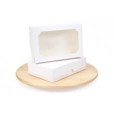 Коробка для зефіра і десертів 230х150х60 з вікном, біла