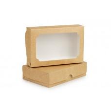 Коробка під еклери 230х150х60 з вікном, крафт