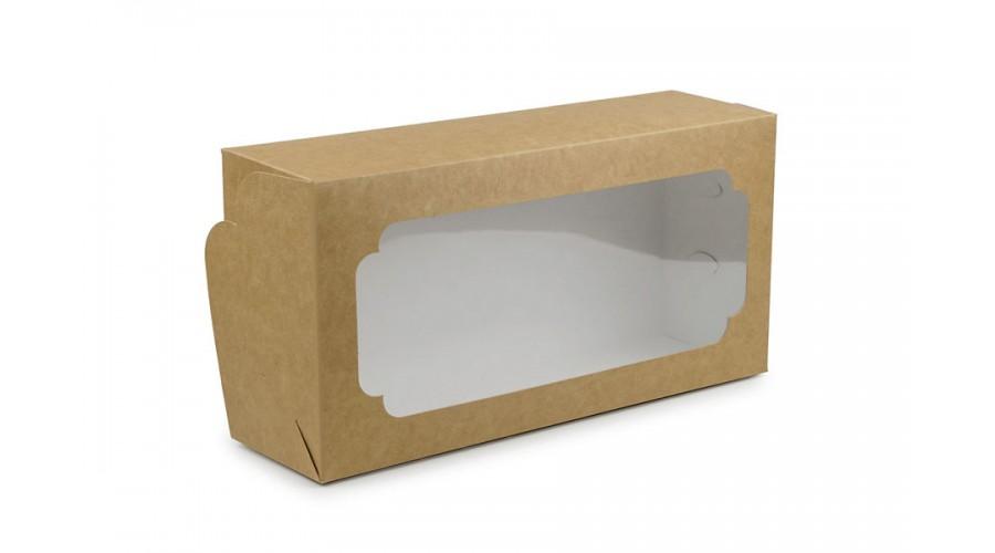 Коробка для кексів, рулетів, крафт, 150х300х90