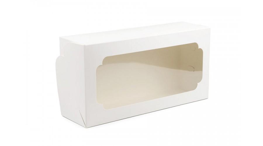 Коробка для кексу штолен, біла, 150х300х90