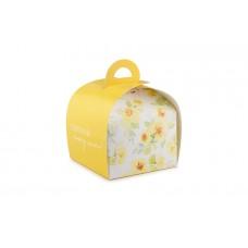 """Коробка для кондитерських виробів """"Скринька"""", жовта, 110х110х80 мм"""