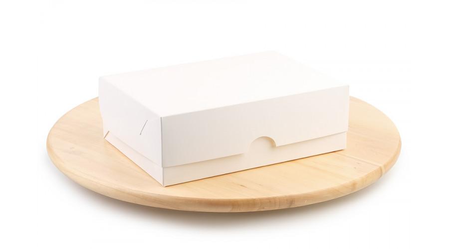 Універсальна коробка для десертів, біла, 210х150х70 мм (50 штук)