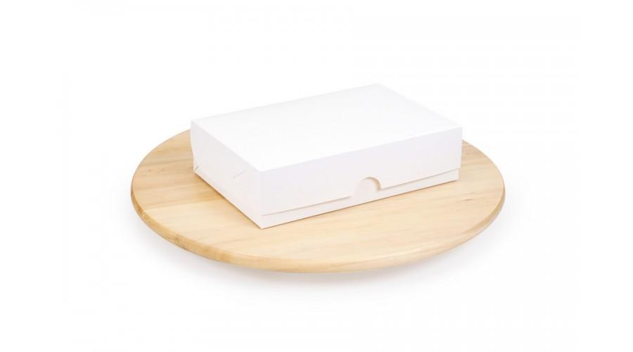 Упаковка для фаст-фуду і їжі на винос, біла, 230х150х60 мм