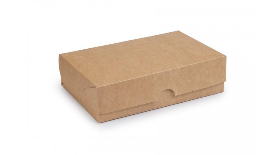Упаковка для фаст-фуду і їжі на винос, крафт, 230х150х60 мм