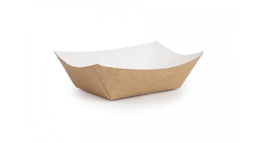 Упаковка для картоплі фрі і їжі на винос, крафт, 125х75х50 мм