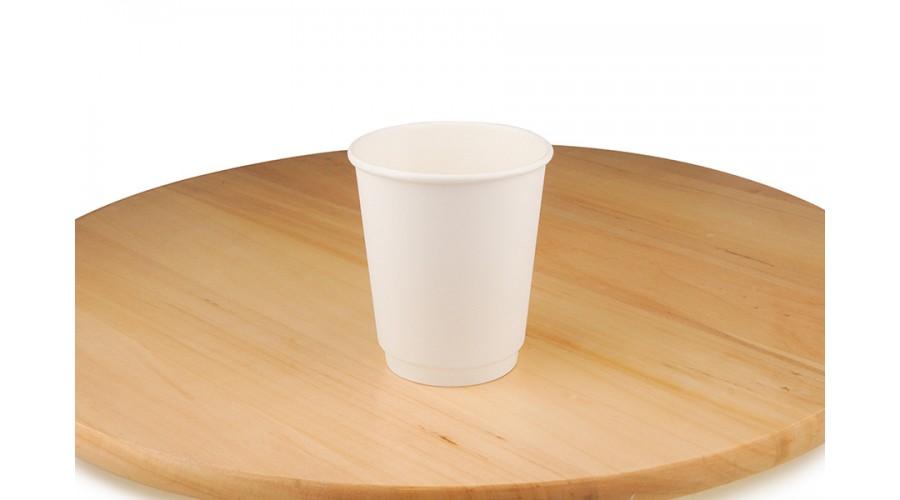 Білі паперові стакани, 185 мл
