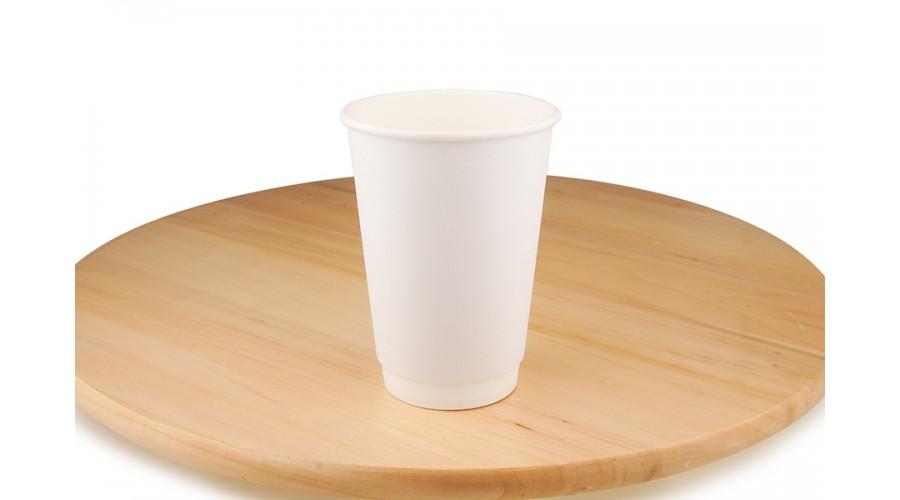 Білі паперові стакани, 340 мл