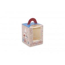 """Новорічна коробка для 1 капкейка, """"Подарунки"""",  82х82х100 мм (10 шт)"""