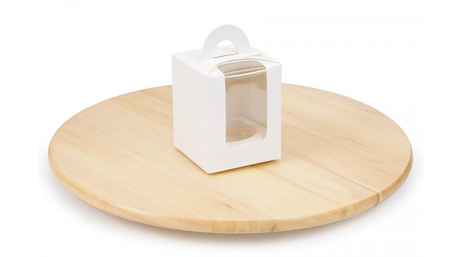 Коробка під капкейк, на 1 шт, біла