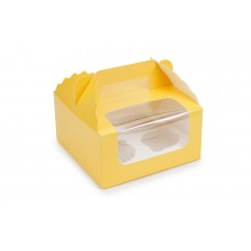 Коробка під капкейки, жовта, 170х170х85 мм