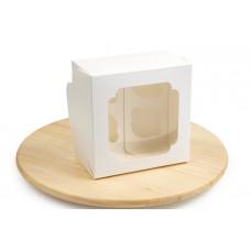 Коробка для 4 - х капкейків, біла, 172х172х100 мм