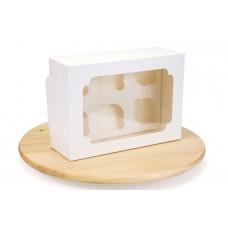 Коробка для капкейків, на 6 шт, біла, 255х190х100 мм